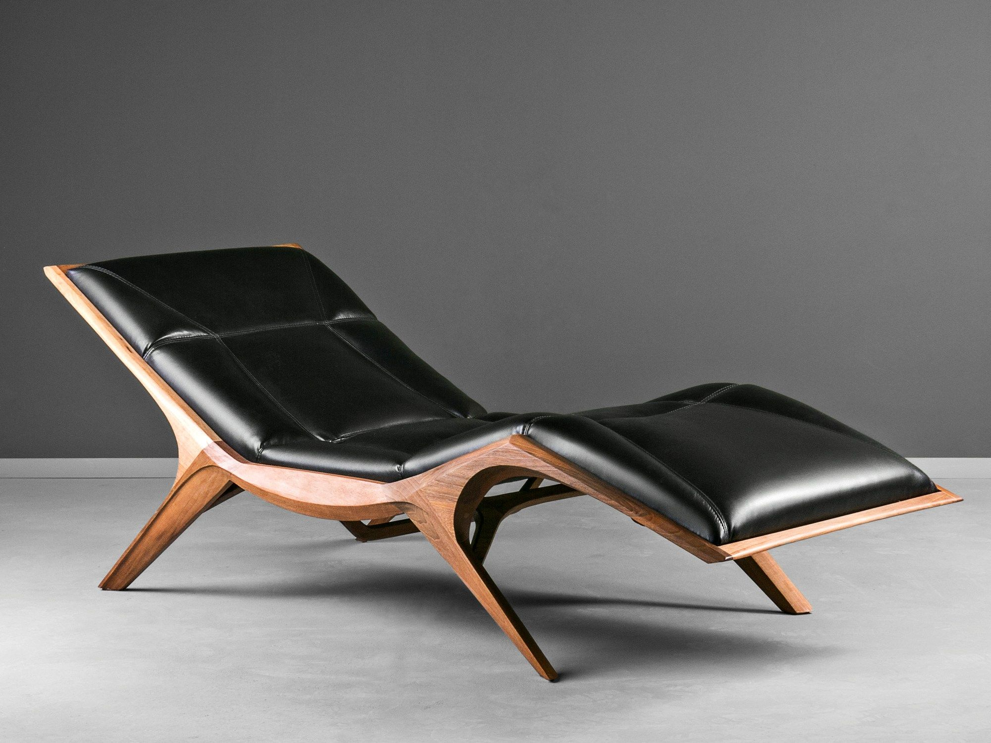 Upholstered Leather Chaise Longue Insekt By Hookl Und Stool Design