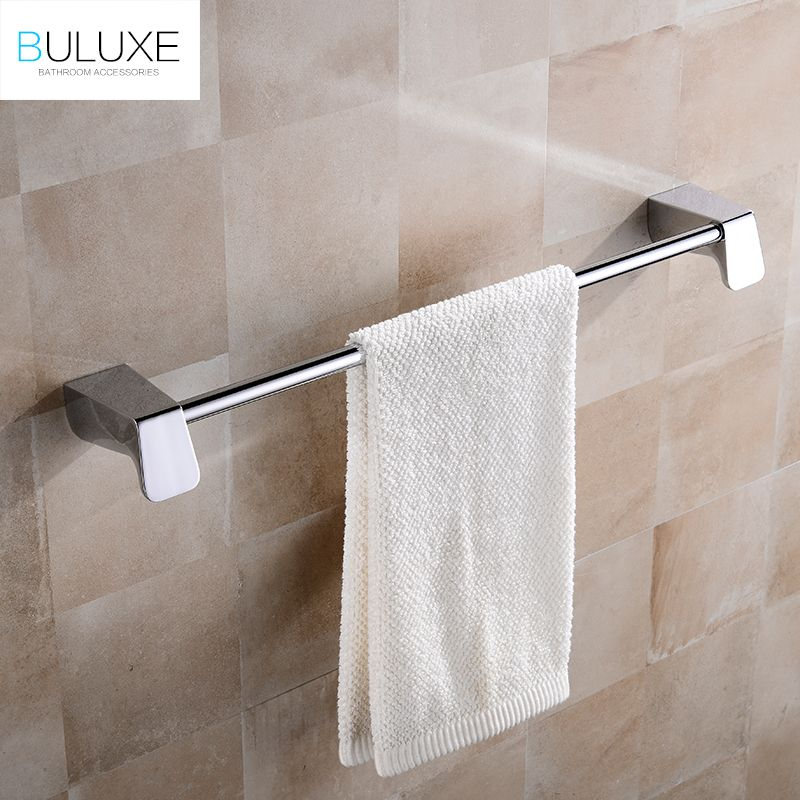 BULUXE Single Towel Bars Brushed Stainless Steel Bathroom Towel - Brushed stainless steel bathroom accessories