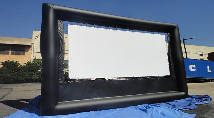 Inflatable outdoor giant movie screen viewing area is 14