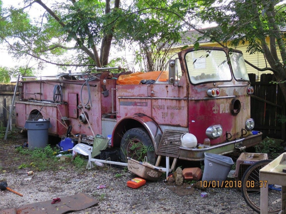 Real Relic: 1965 Seagrave Pumper Truck | Barn finds ...