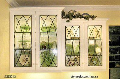 Heritage Lead glass Cabinet  & Kitchen  door inserts Doors