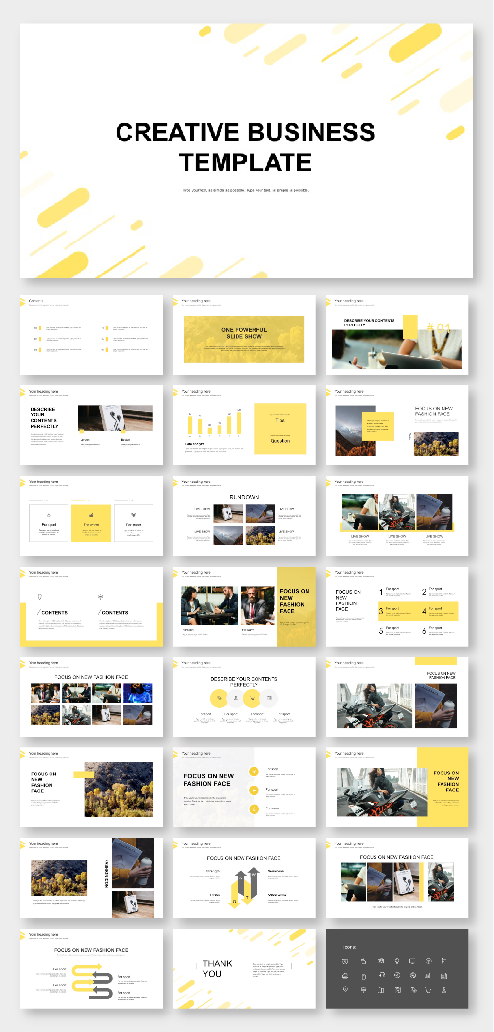 Minimal Classic Yellow Presentation Template Original And High Quality Powerpoint Templates Powerpoint Presentation Design Powerpoint Design Templates Presentation Design Layout