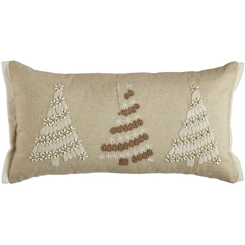 Beaded Christmas Tree Pillow Natural Pier 40 Imports Pillow Classy Pier 1 Pillow Covers