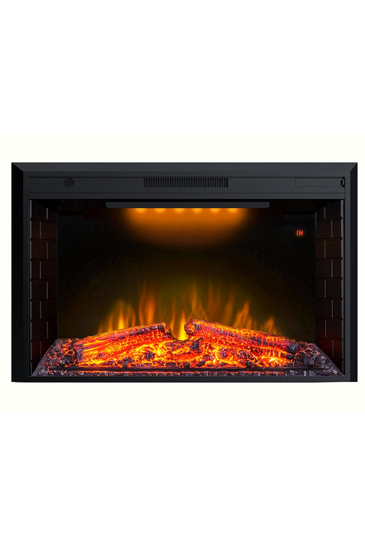 Valuxhome 43 Inches Electric Fireplace Recessed Fireplace Heater