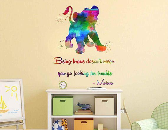Kcik2037 Full Color Wall Decal Watercolor Character Disney Kids Wall Decals Wall Decals Wall Colors