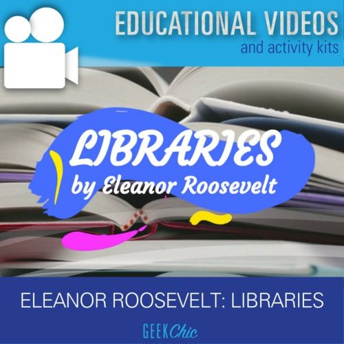 Famous Speeches Eleanor Roosevelt Libraries (Education) Video & Activities #famousspeeches
