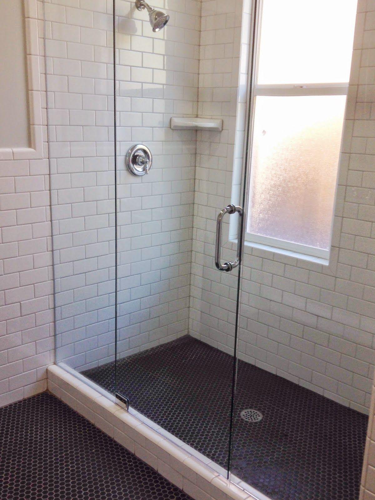 Bathroom floor tiles black - White Gold Remodel Project Bathroom M Street Floor Tile Black 1