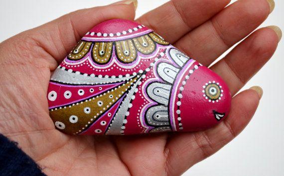 Hand Painted Stone Fish
