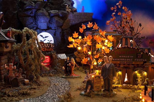 Halloween Village Display / Dept. 56 Halloween Village Halloween Village Display 2012, via Flickr