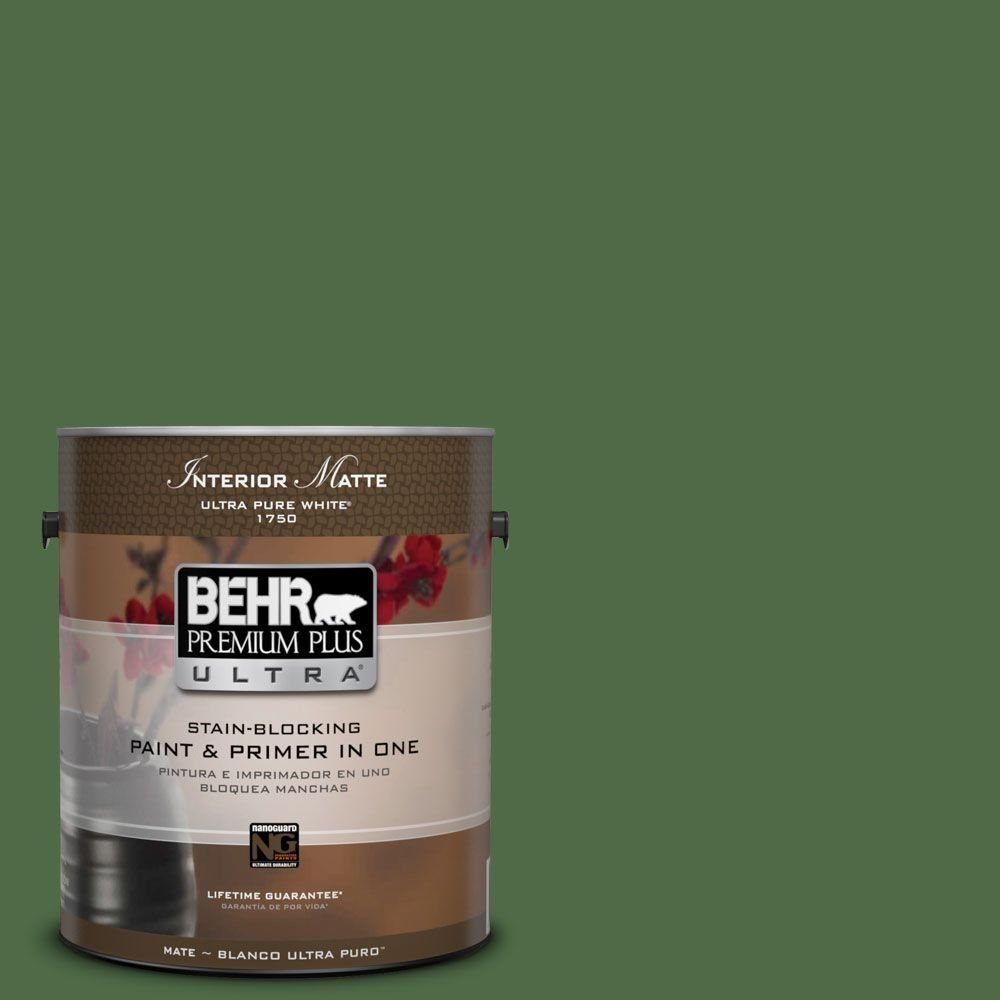 Behr Ultra 1 Gal M400 7 Garden Cucumber Matte Interior Paint And Primer In One 175301 Interior Paint Paint Primer Exterior Paint