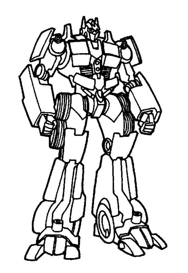Transformer Coloring Pages Online | Cartoon | Pinterest