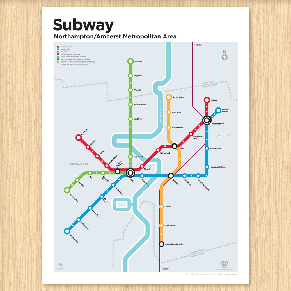Massachusetts Subway Map.Northampton Amherst Subway Map Already Got This For The Home