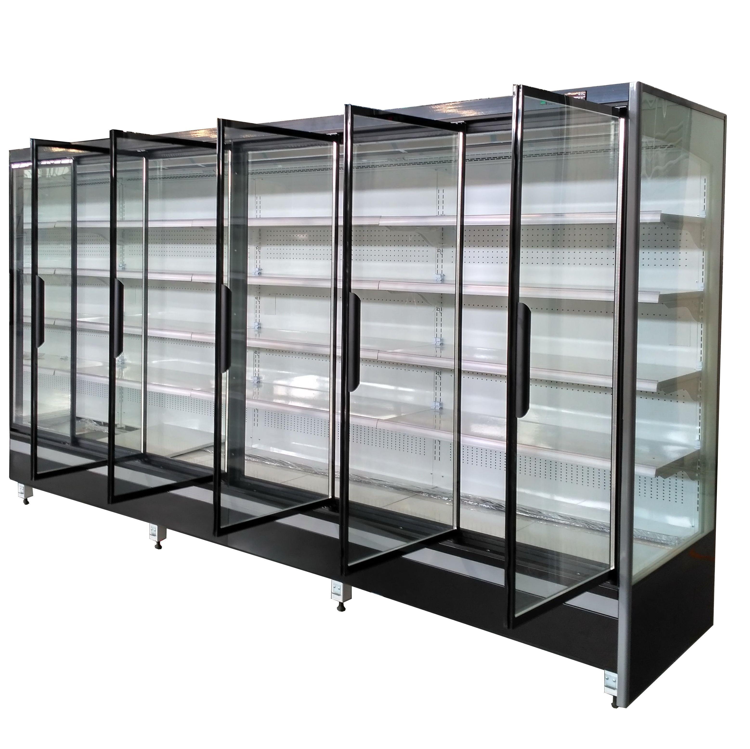 Supermarket Food Display Glass Door Refrigerator Curvedglasscooler Curvedglassfreezer Curvedglassfridge