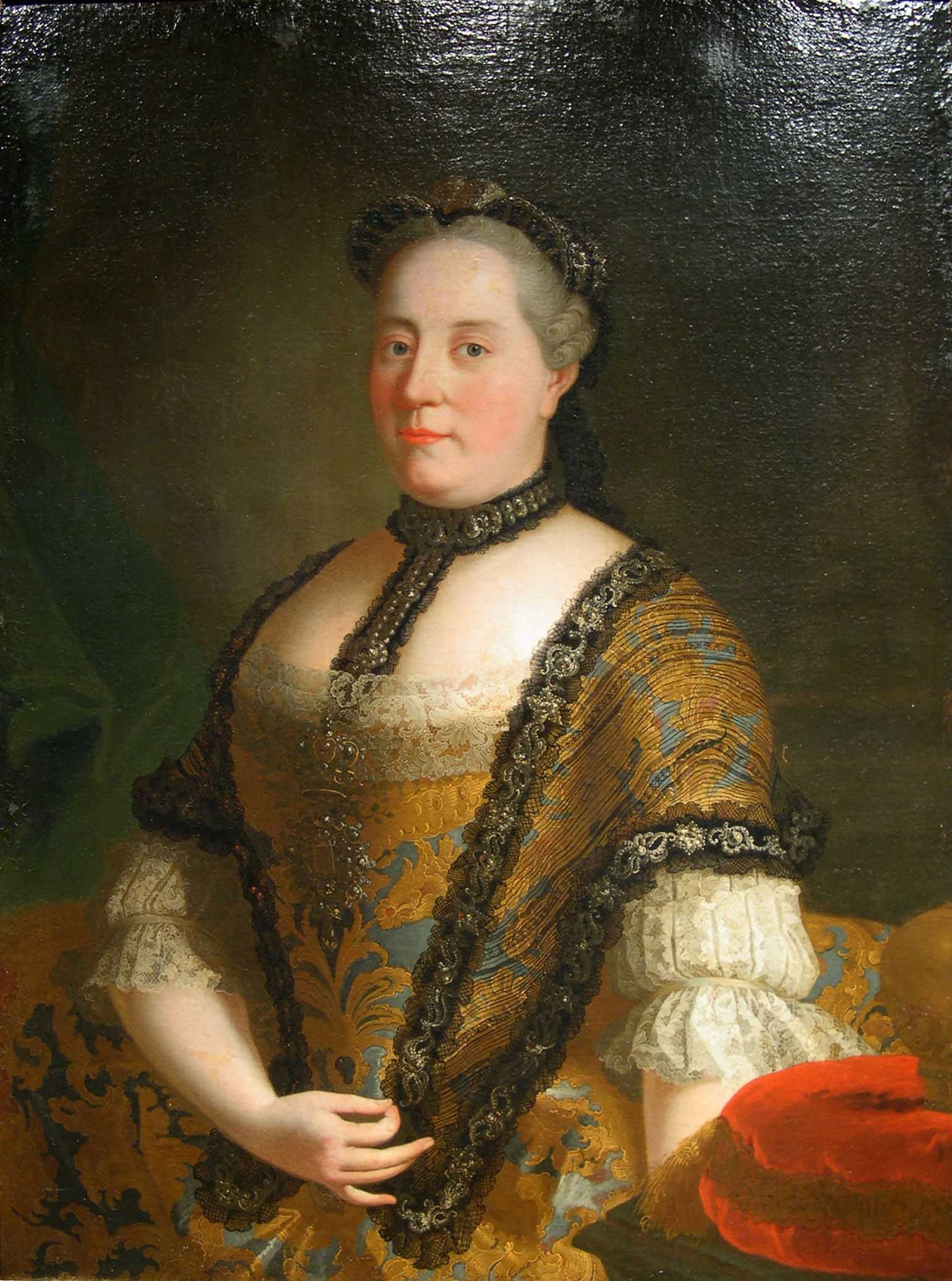 """Martín van Mytens – """"Retrato de MariaTheresa Emperatriz de Austria"""" - Siglo XVIII"""