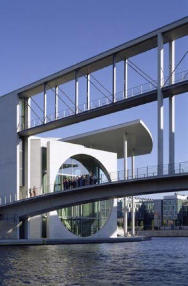 Parliamentary Library of the German Bundestag in the Spreebogen Berlin (1998-2003) | Stephan Braunfels Architekten