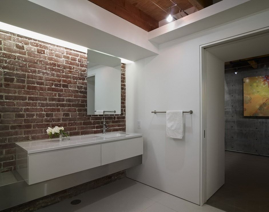 20 Bathroom Designs With Brick Walls Modern Bathroom