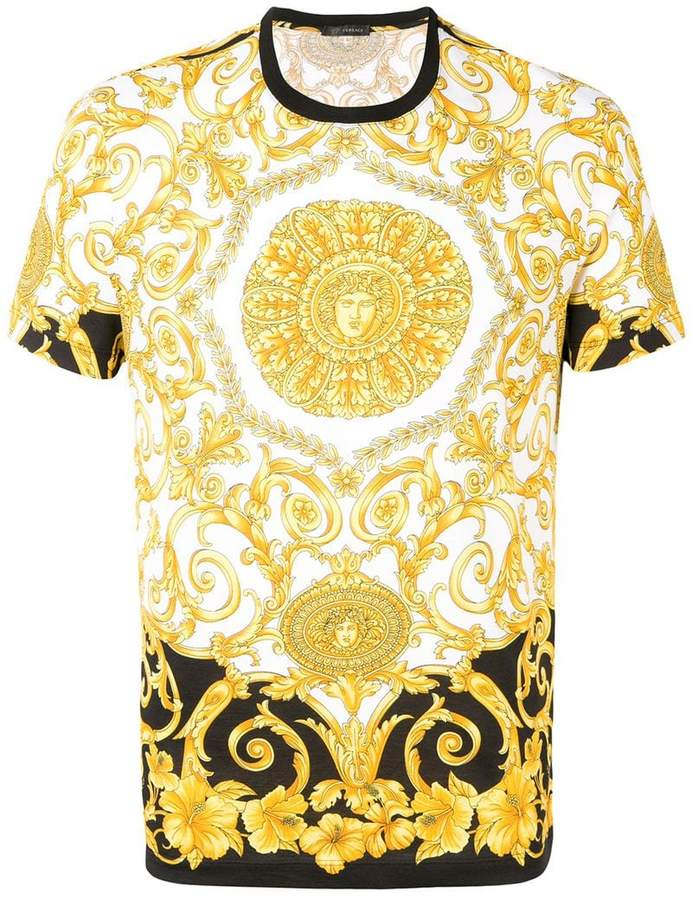 45a42efa Versace Baroque Print T-shirt in 2019 | Products | Versace, T shirt ...