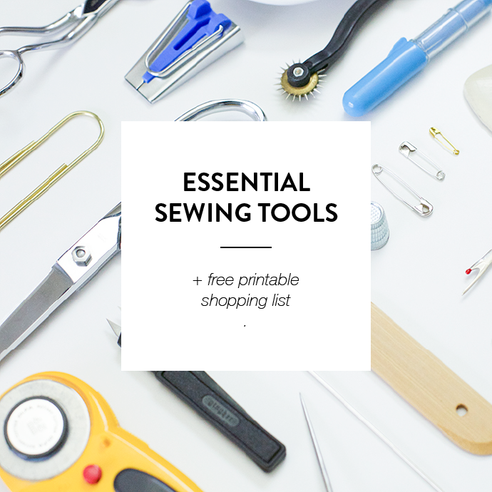 Essential Sewing Tools Supplies Printable Shopping List Sewing Tools Sewing Sewing Hacks