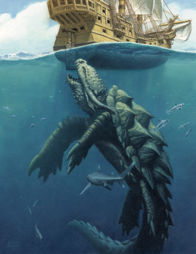 Giant sea monsters art - photo#38
