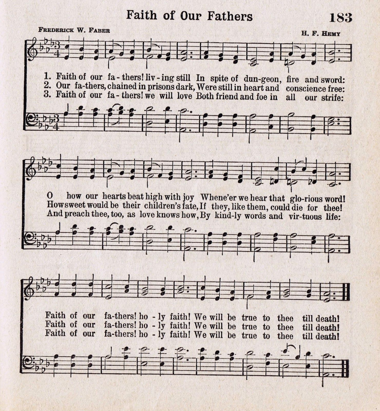Antique Hymn Printable For Father's Day {Faith Of Our