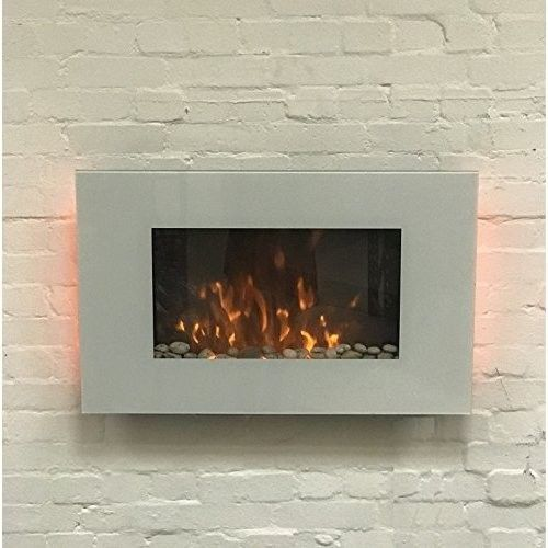 Electric Fireplace Wall Mount Fire Large Heater Warm Led