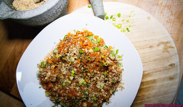 Zucchininudeln mit Linsenbolognese