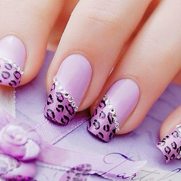 Smalto leopardato rosa con strass:-) | Nails | Pinterest | Jewel ...
