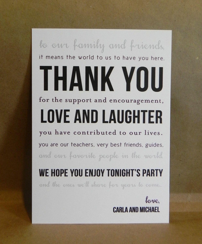 Custom Printed Thank You Card / Welcome Basket / Wedding