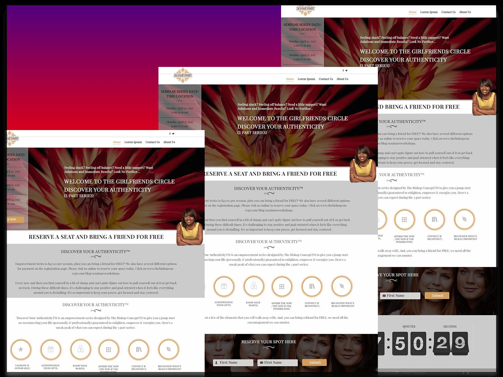 Online mockup design