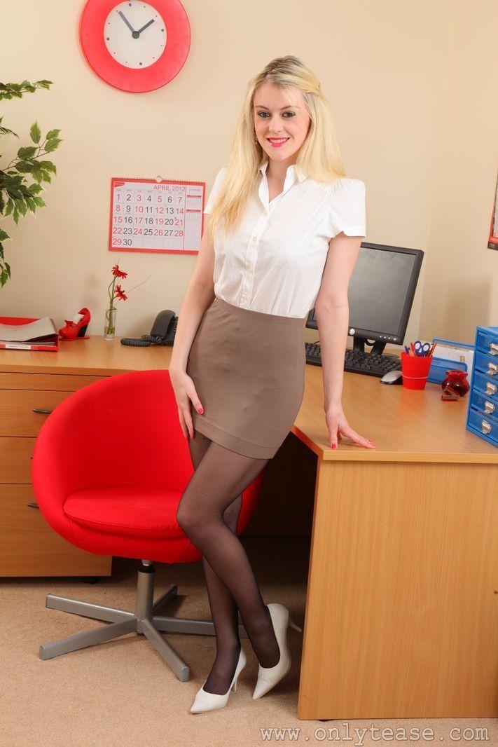 brown pencil skirt white blouse sheer brown