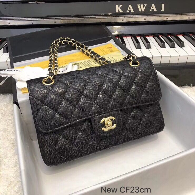 d7bf770e7abf12 Chanel new size 23cm classic flap bag original leather version ...