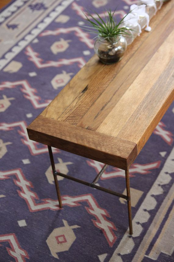 Reclaimed Coffee Table with Steel Rod Legs FREE by TinyShed
