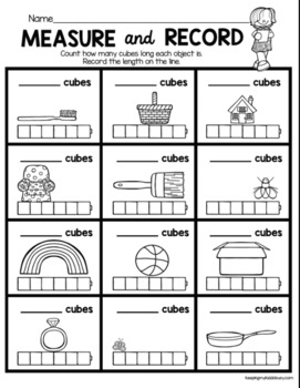 Measurement And Data Freebies Free Graphing And Measuring Worksheets Kindergarten Math Worksheets Free Math Worksheets Measurement Kindergarten