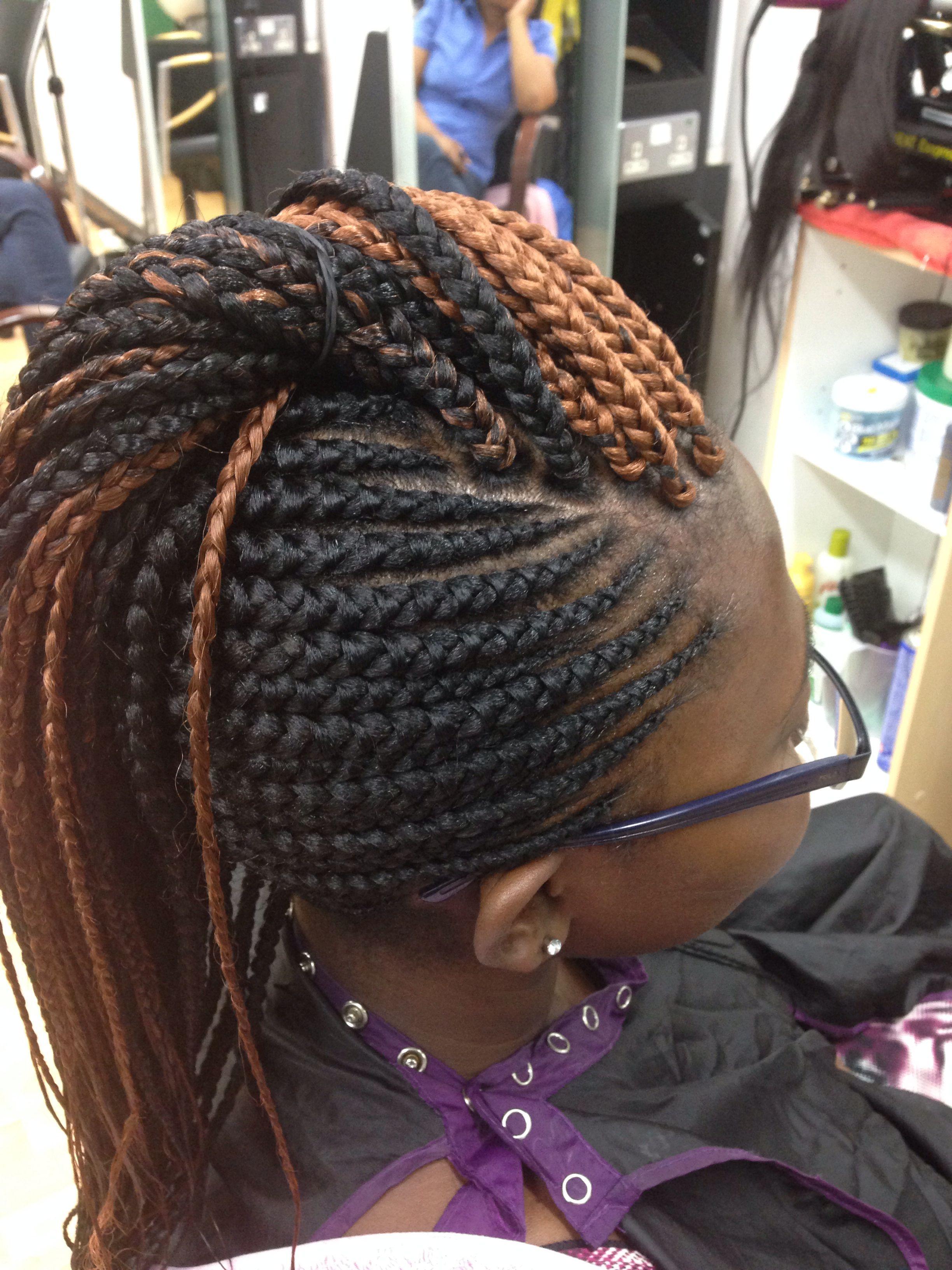 Ghana braids with singles Ghana braids, Hot hair styles