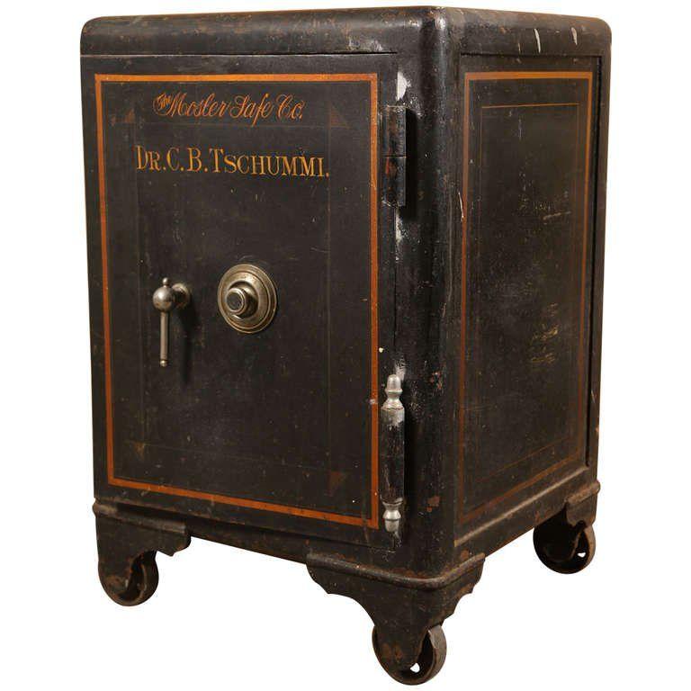 Vintage Industrial Cast Iron Mosler Safe 1 Antique Safe Vintage