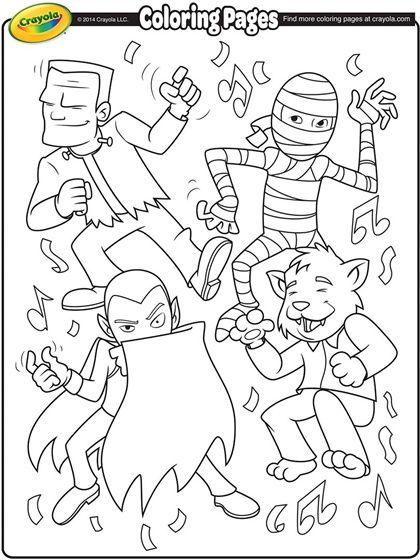 monsters coloring page  malebøger tegninger halloween