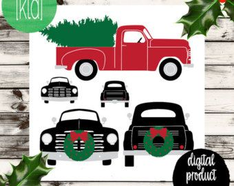 Truck SVG Christmas With Tree Svg Design Merry Carrying