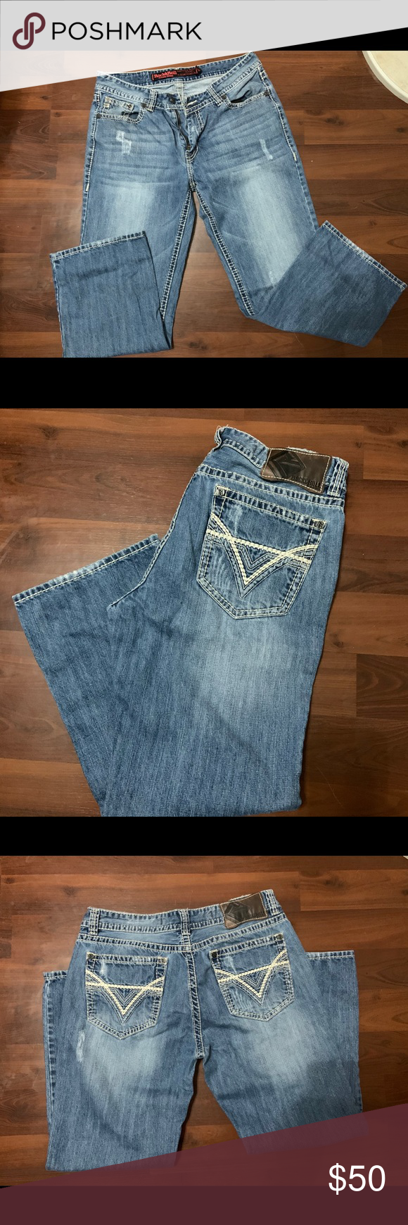 Rock and roll men's jeans Worn twice Length 30 Jeans Bootcut #rockandrolloutfits