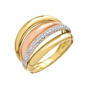 8ad4c34539c Anel Cartier em Ouro 18K (750) Com Diamantes.