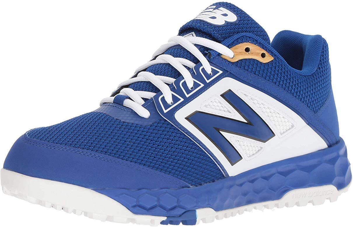 New Balance Men S 3000v4 Turf Baseball Shoe Royal White 15 D Us Baseball Shoes Turf Shoes Shoes Mens