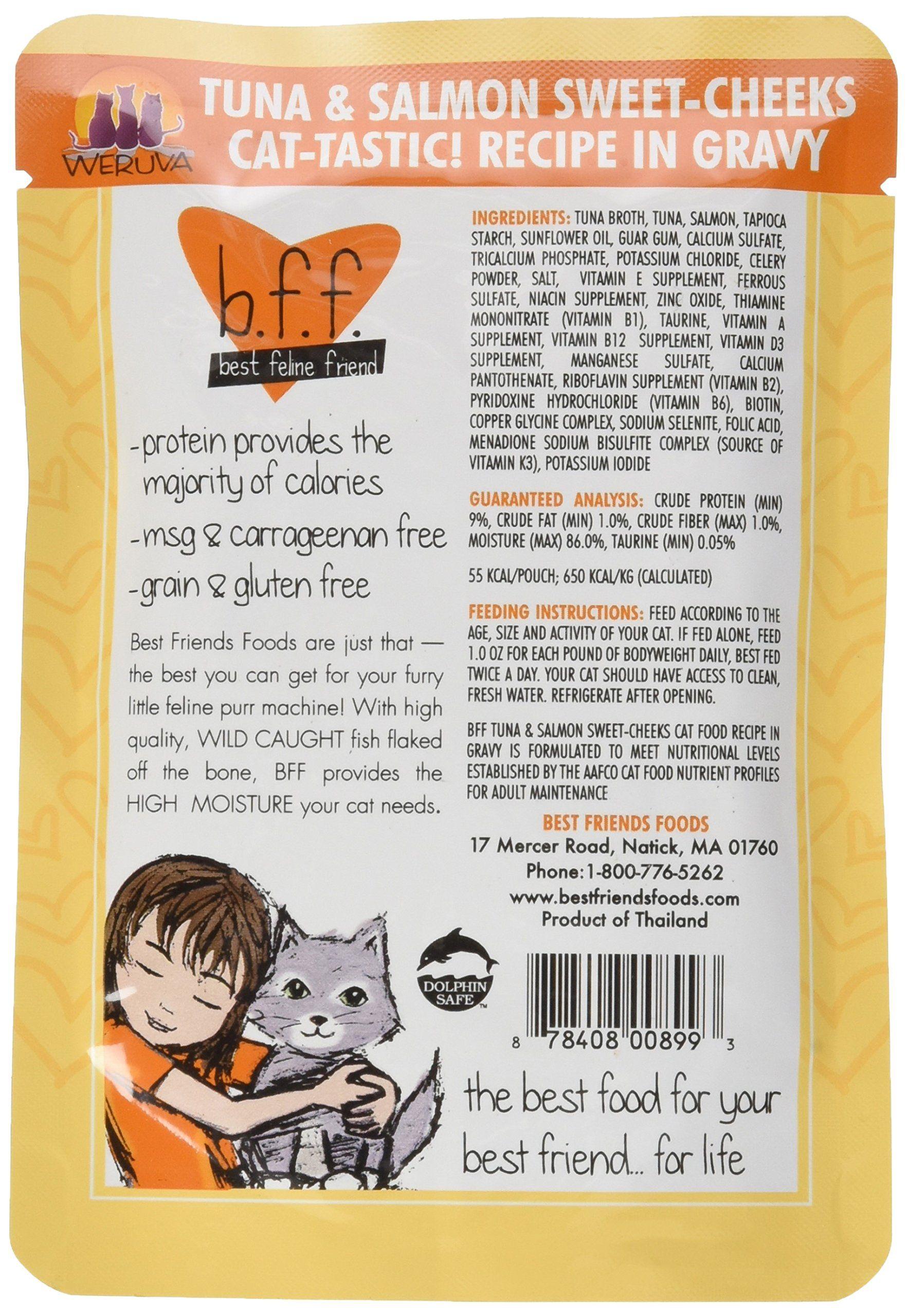 Best Feline Friend Tuna Gravy Ingredients B12 Vitamin Supplement Sweet Cheeks