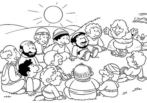 Jesus Gather With His Disciples Coloring Page Coloring Sun Sunday School Coloring Pages Sunday School Crafts Bible Crafts