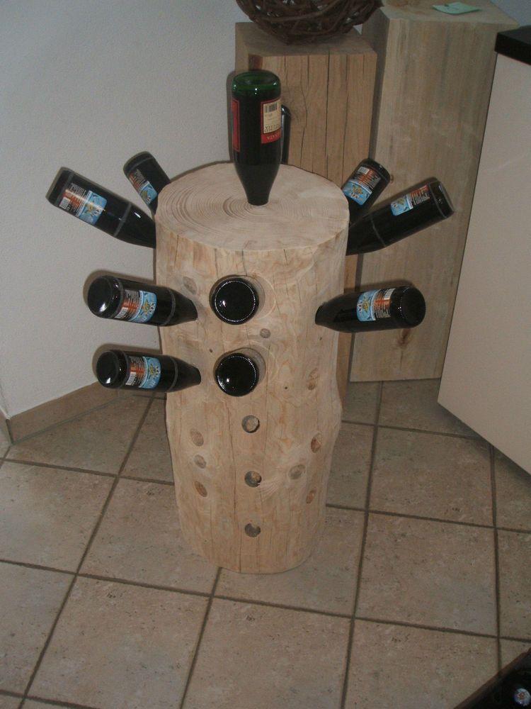 Nr 64 Baumstamm Flaschenregal Weinregal Holz Fur 37 Flaschen 82x38x36cm Flaschen Regal Weinregal Holz Weinregal