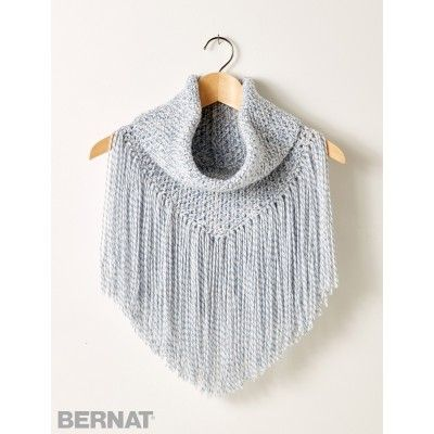Boho Meets Country With This Fringed Cowl Cozy Free Crochet And