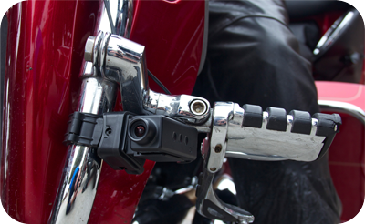 Bikercam Is Designed For Continuous Recording While Plugged Into