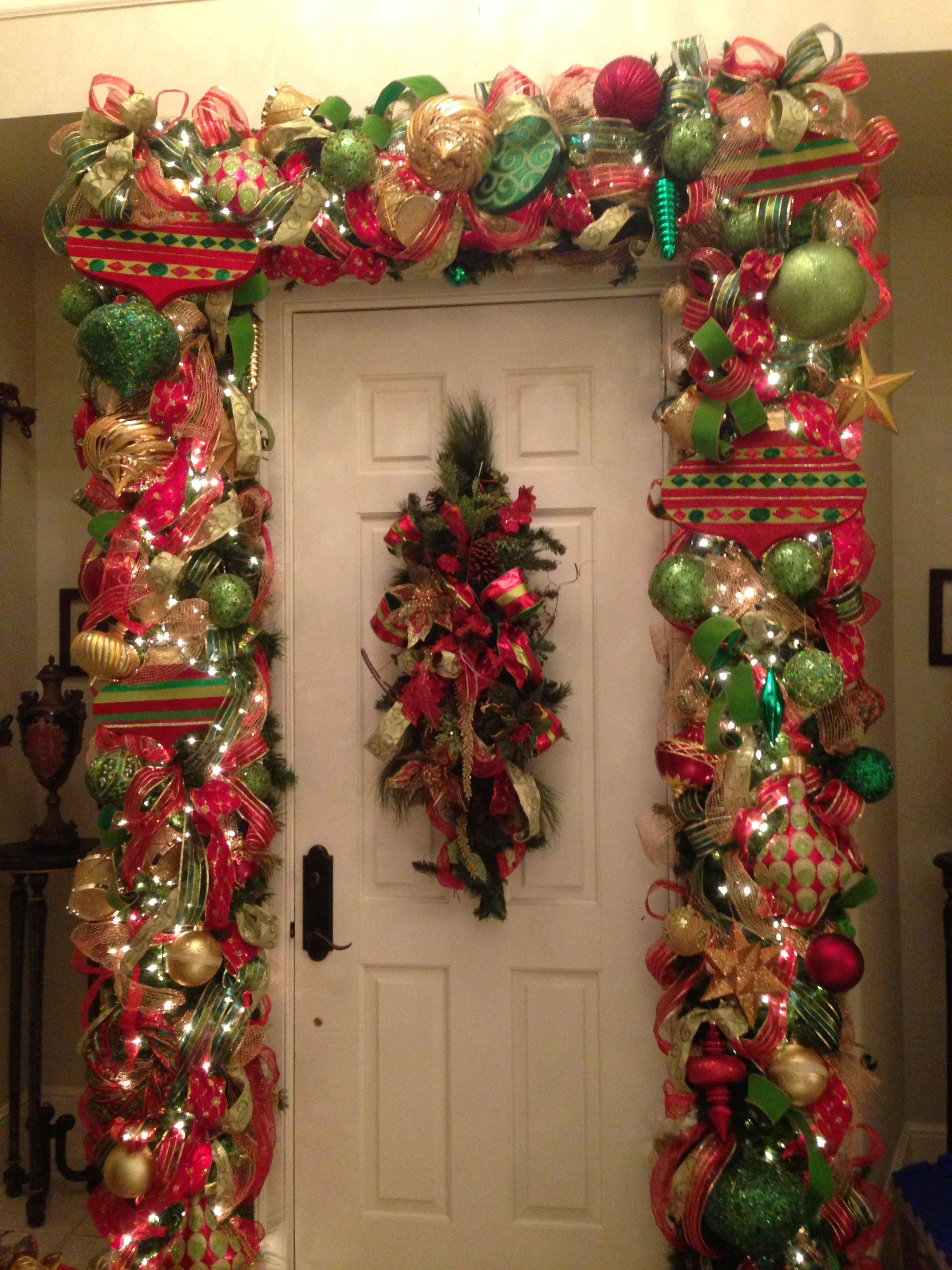 Red Green And Gold Christmas Garland Tothegoodlifewithme
