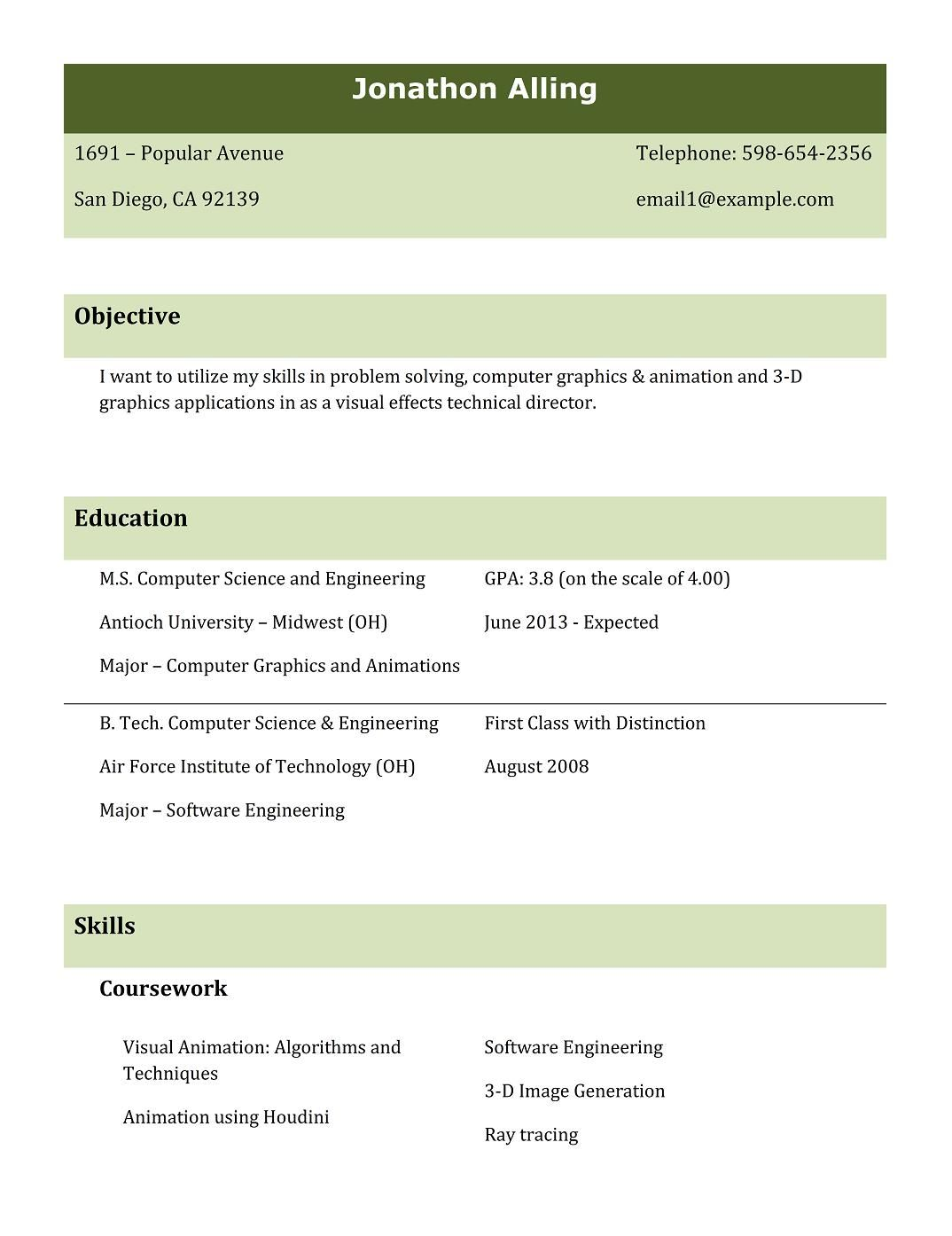 Resume Types Formats Types Resumes Formats Sample Best Professional Resume Templates