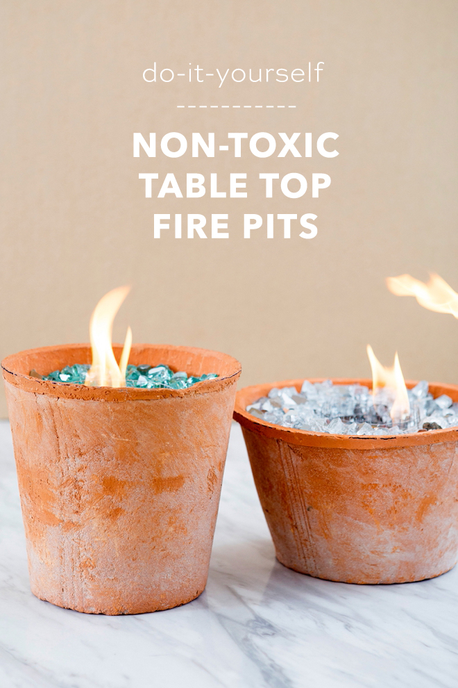 You HAVE To See These DIY, Non-Toxic Table Top Fire Pits! #diyfirepit