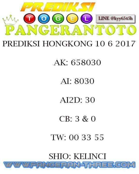 pangerantoto prediksi togel hongkong 10/6/2017 | Screenshots