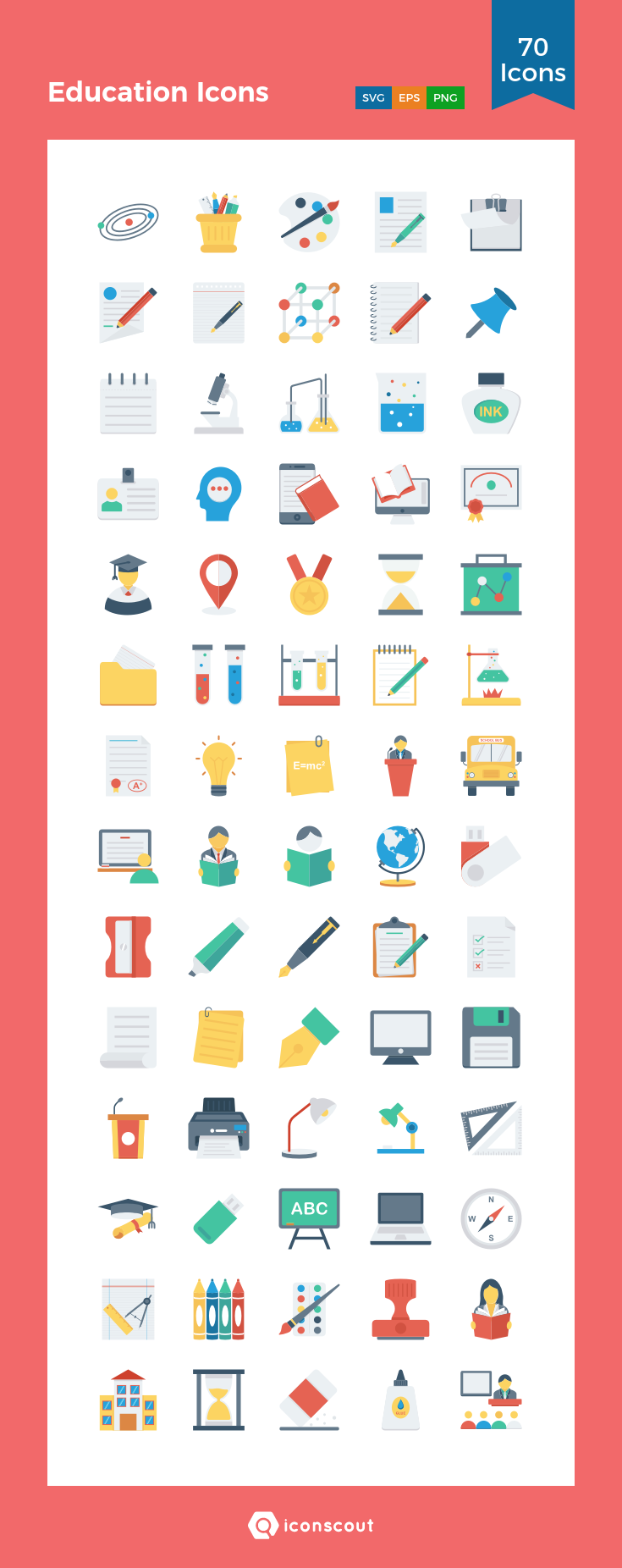 Download Education Icons Icon pack Available in SVG, PNG